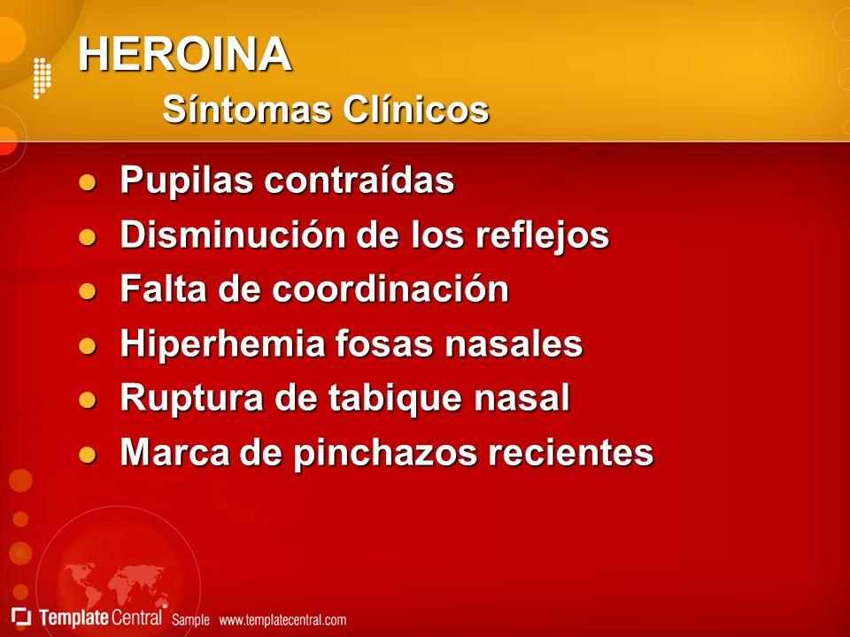 HEROINA Síntomas Clínicos