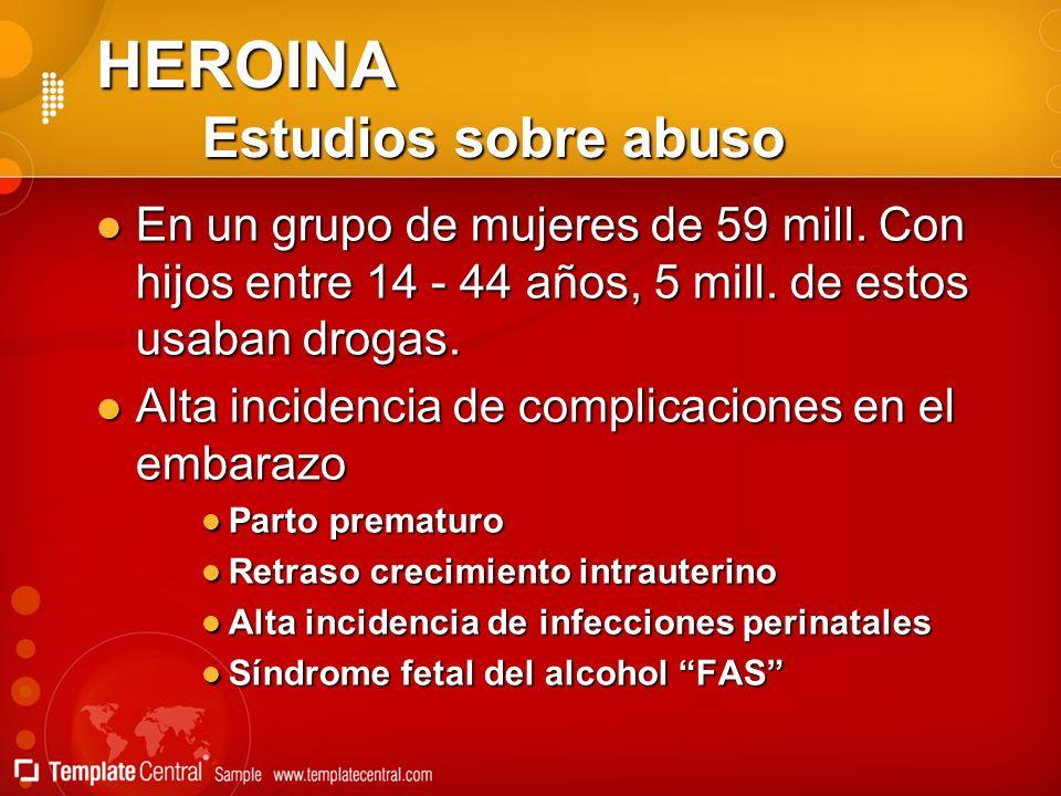 HEROINA Estudios sobre abuso