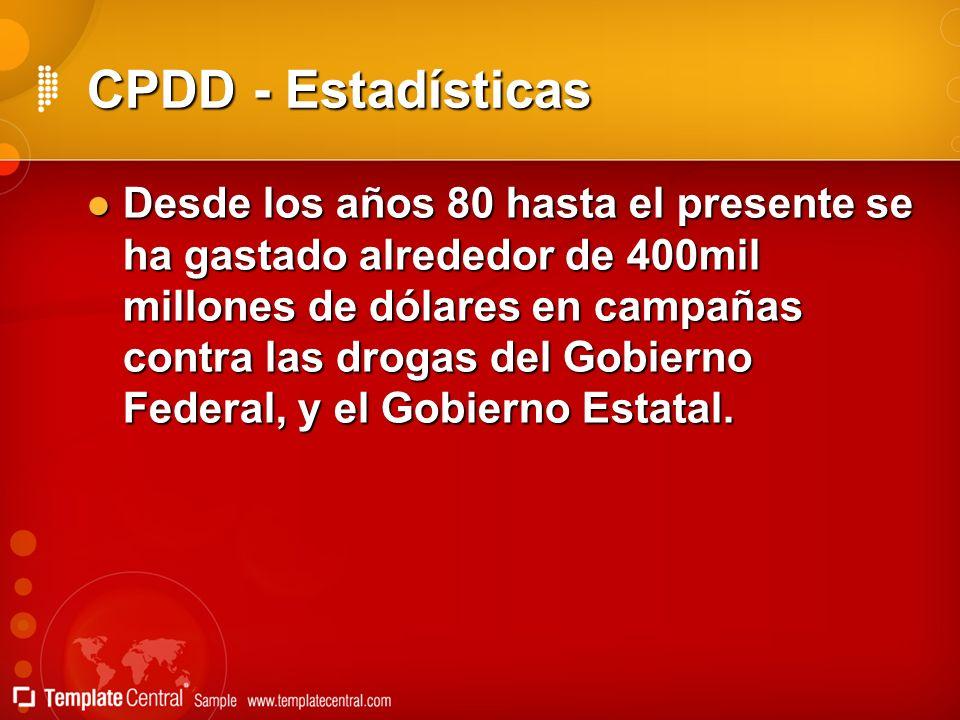 CPDD - Estadísticas
