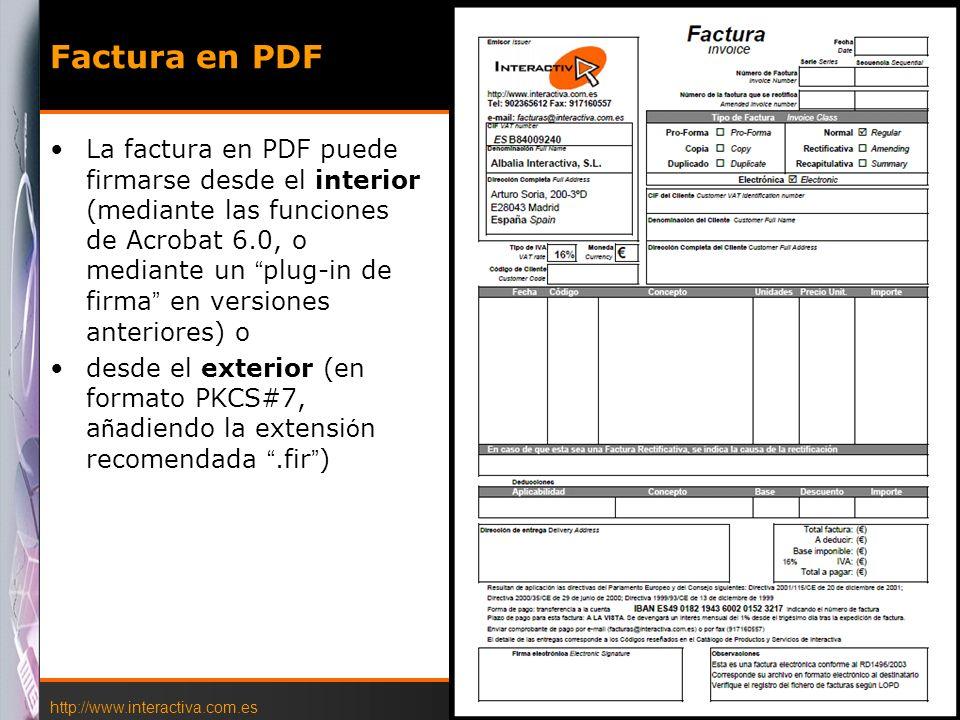 Factura en PDF