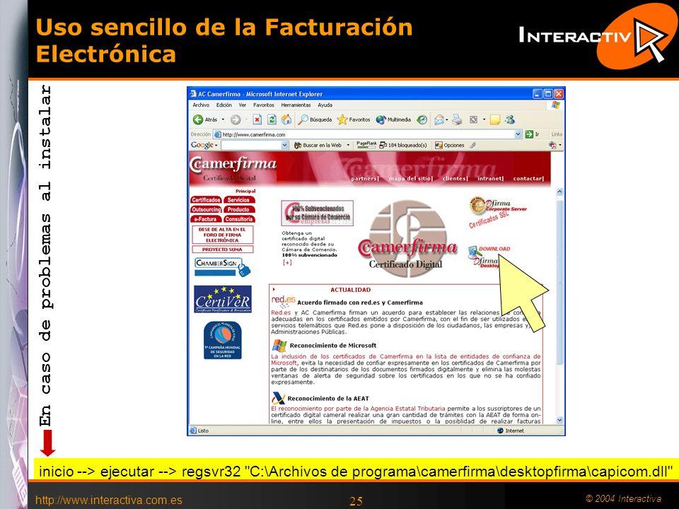 Uso sencillo de la Facturación Electrónica