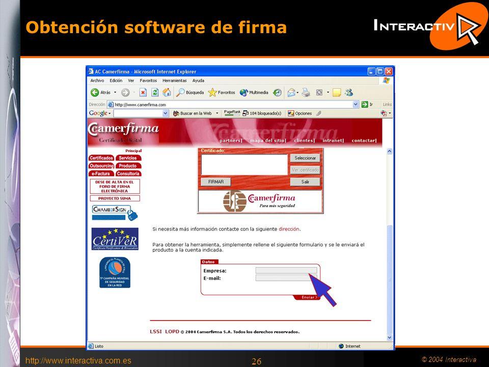 Obtención software de firma
