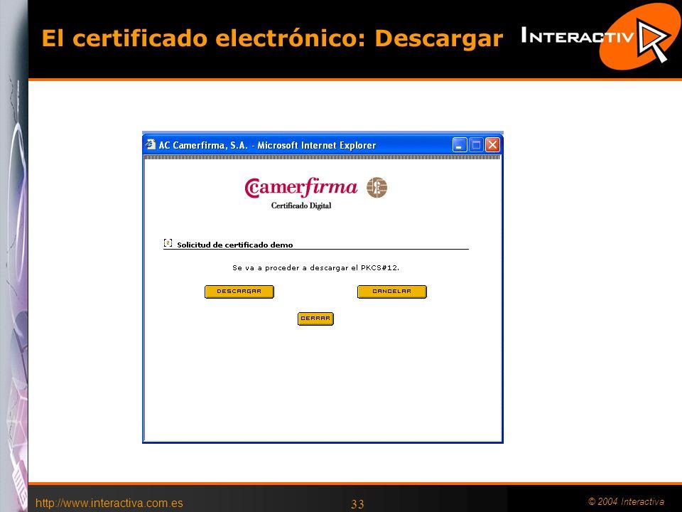 El certificado electrónico: Descargar