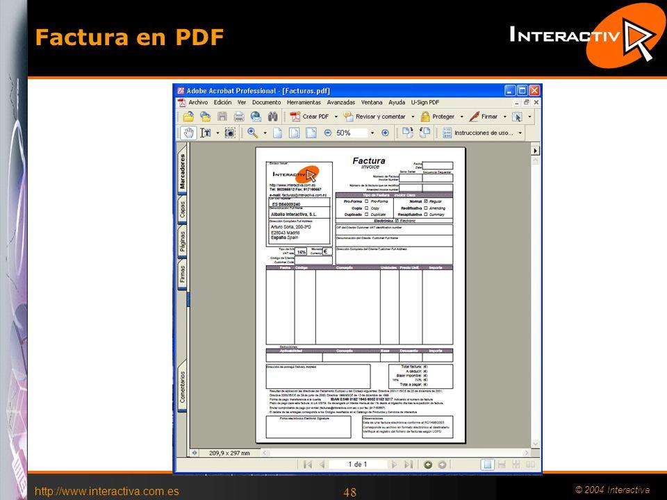 Factura en PDF DOCUMENTO COMERCIAL Crear una carpeta nueva Factura-e