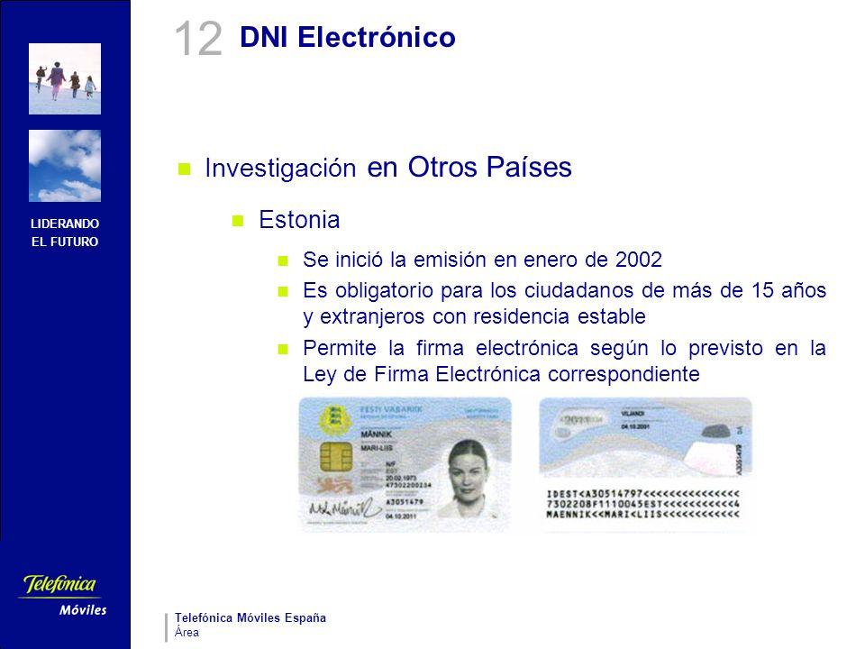 12 DNI Electrónico Investigación en Otros Países Estonia