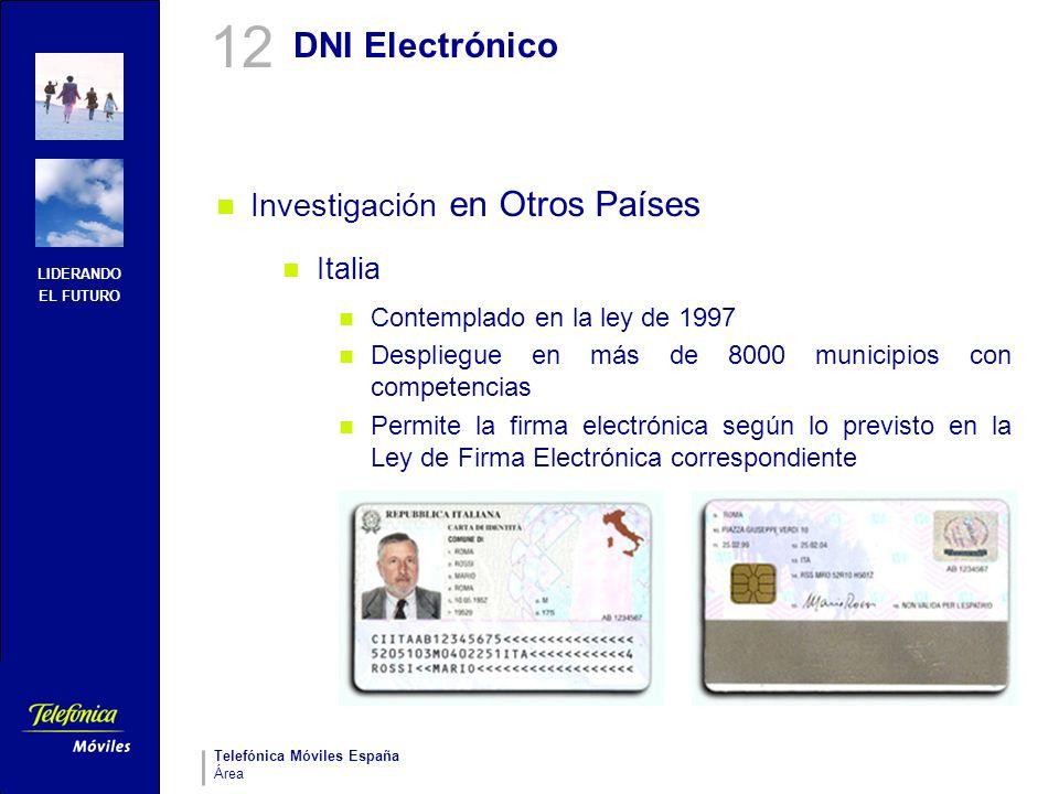 12 DNI Electrónico Investigación en Otros Países Italia