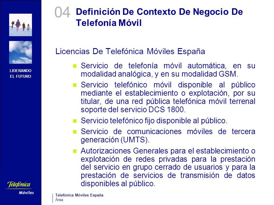 Definición De Contexto De Negocio De Telefonía Móvil