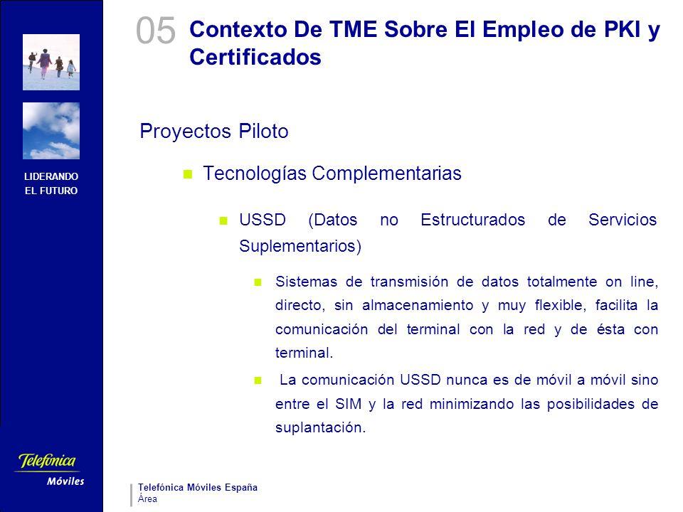 Contexto De TME Sobre El Empleo de PKI y Certificados