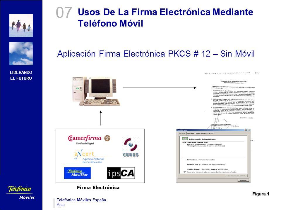 Usos De La Firma Electrónica Mediante Teléfono Móvil