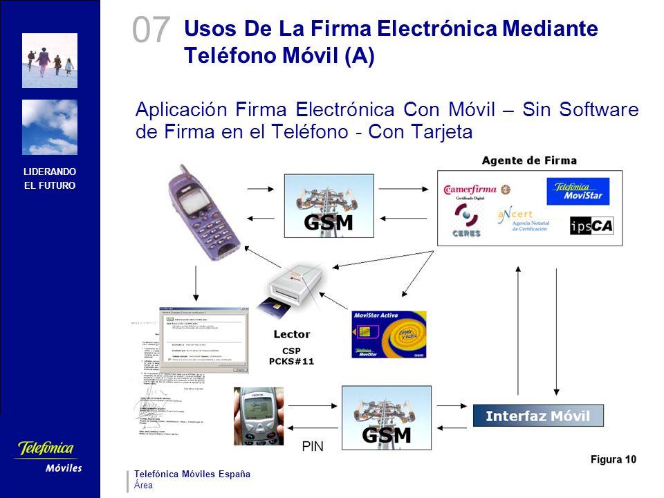 Usos De La Firma Electrónica Mediante Teléfono Móvil (A)