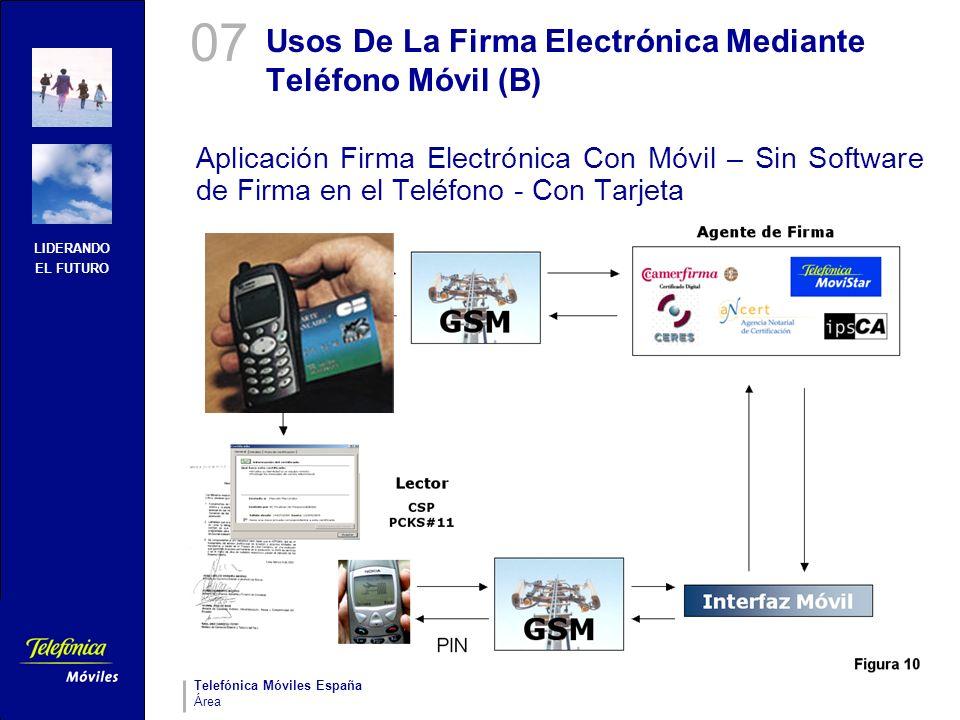 Usos De La Firma Electrónica Mediante Teléfono Móvil (B)