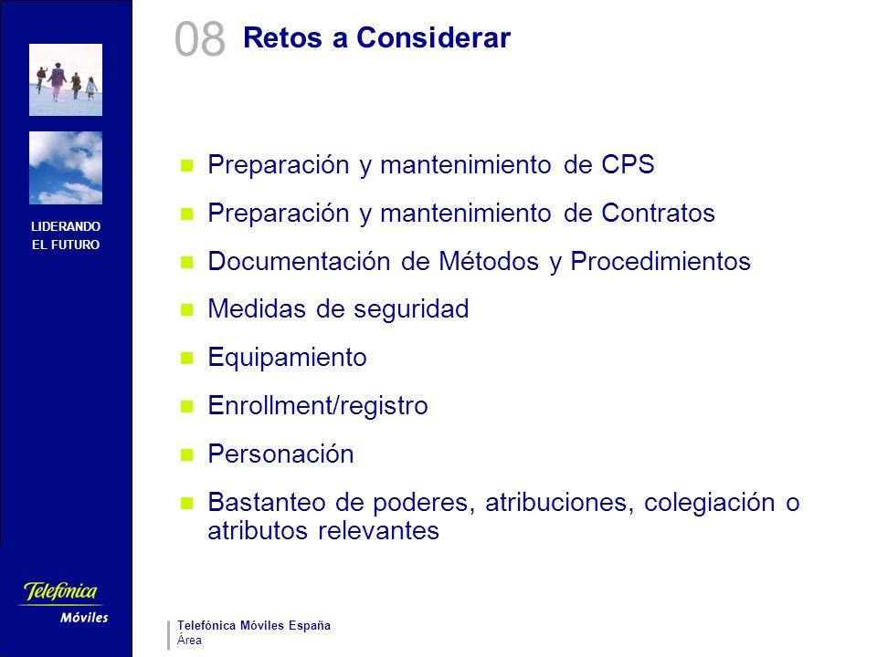 08 Retos a Considerar Preparación y mantenimiento de CPS