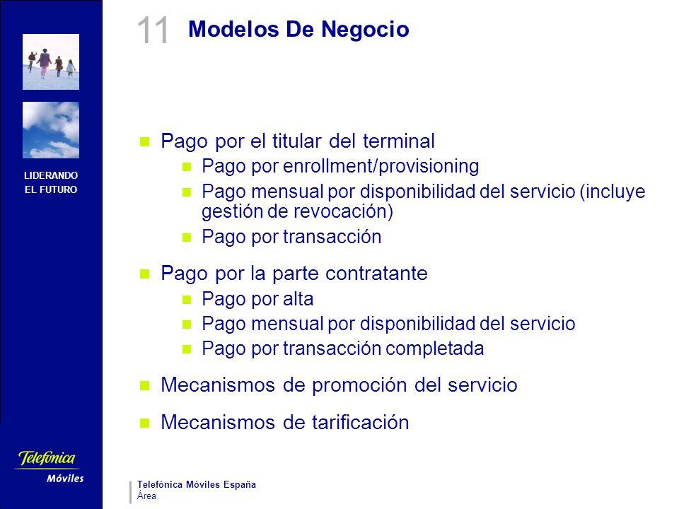 11 Modelos De Negocio Pago por el titular del terminal