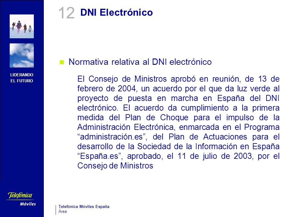 12 DNI Electrónico Normativa relativa al DNI electrónico