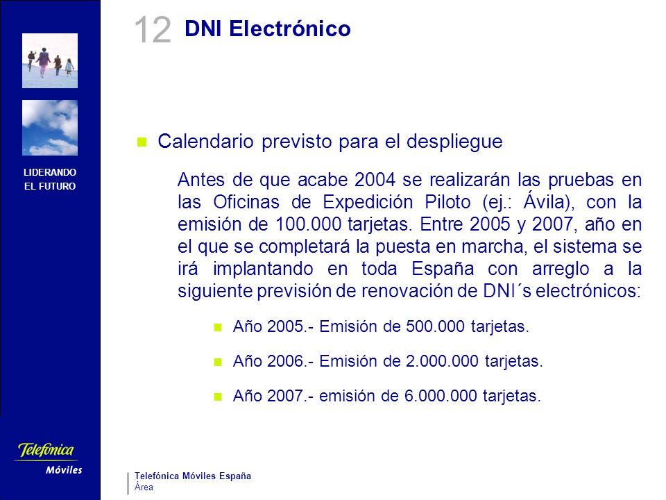 12 DNI Electrónico Calendario previsto para el despliegue