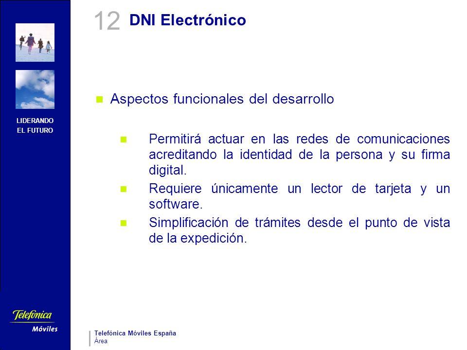 12 DNI Electrónico Aspectos funcionales del desarrollo