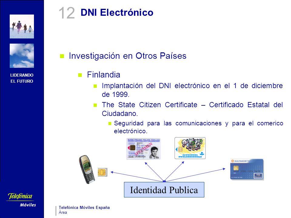 12 DNI Electrónico Identidad Publica Investigación en Otros Países