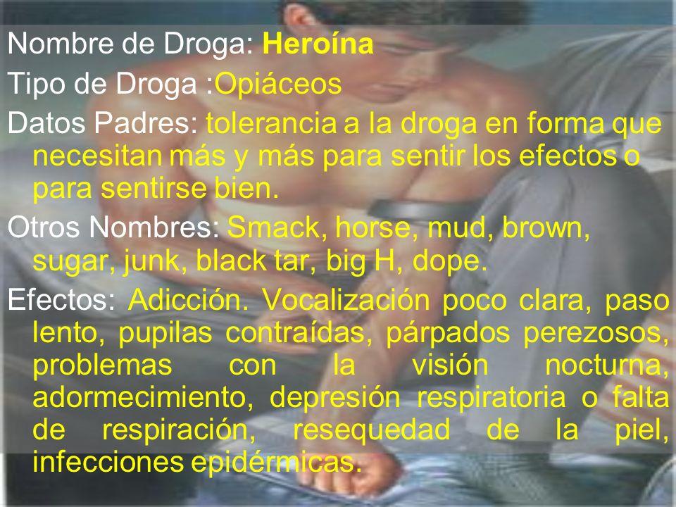 Nombre de Droga: Heroína