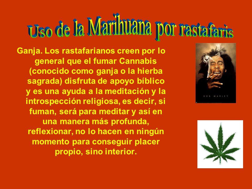 Uso de la Marihuana por rastafaris
