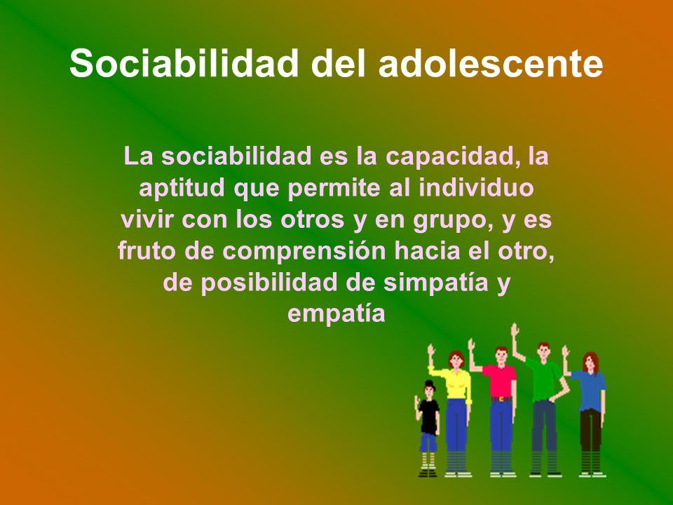 Sociabilidad del adolescente