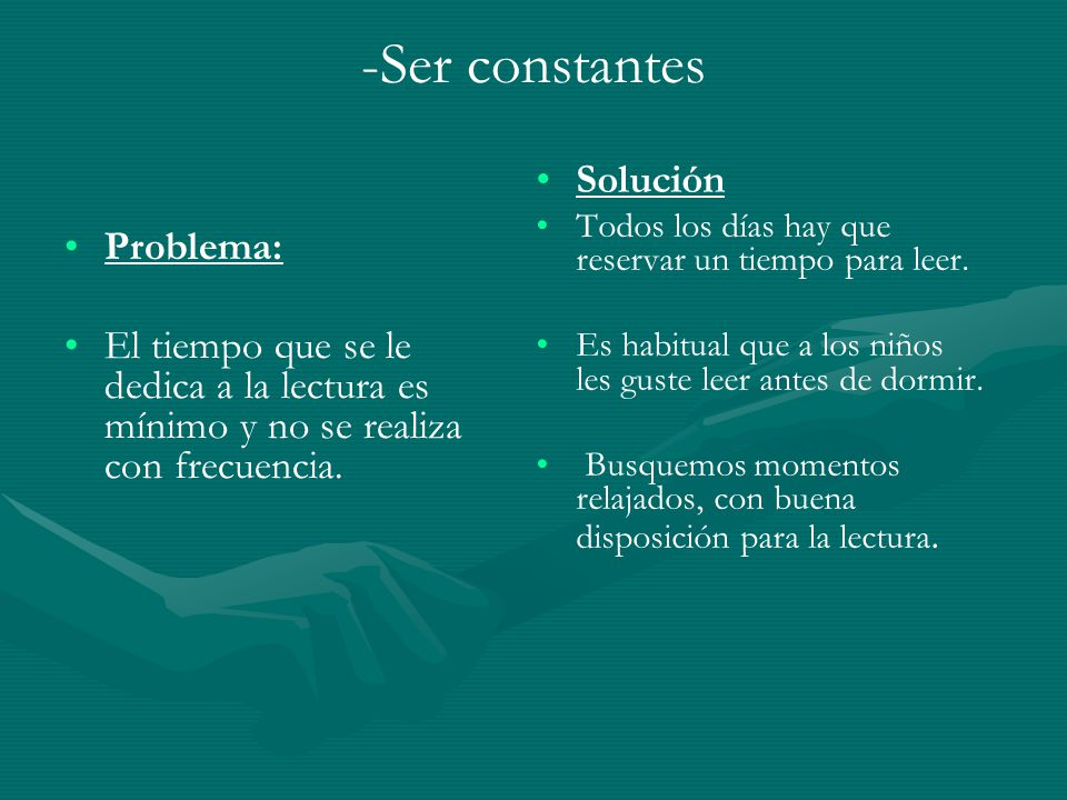 -Ser constantes Solución Problema: