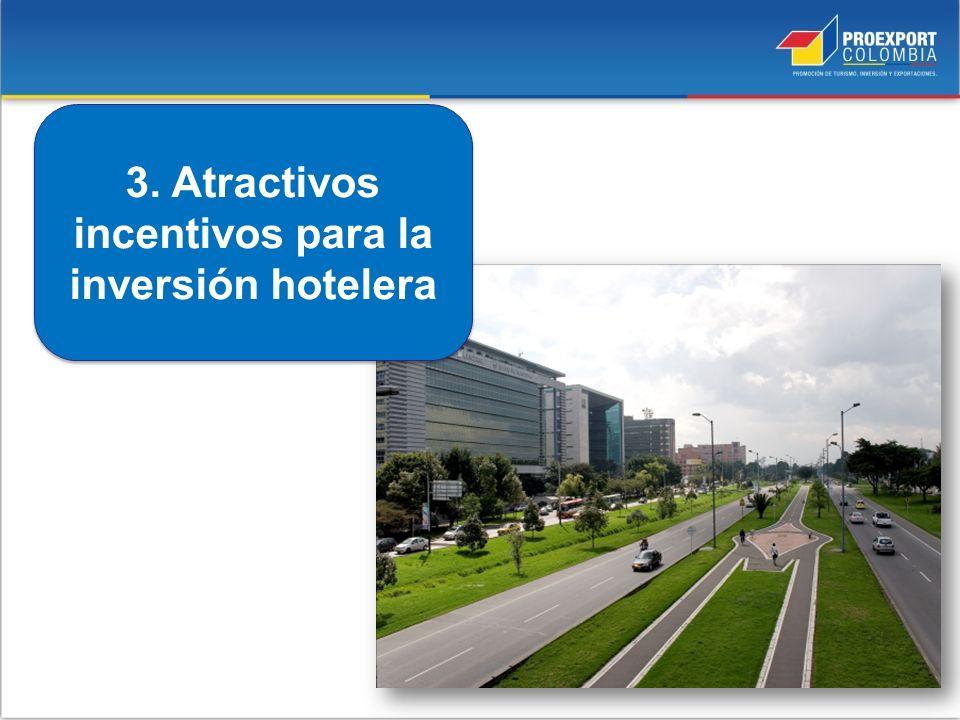 3. Atractivos incentivos para la inversión hotelera
