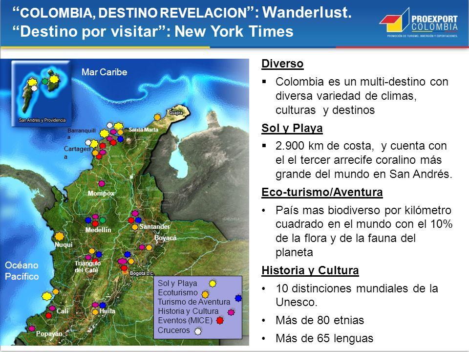 COLOMBIA, DESTINO REVELACION : Wanderlust