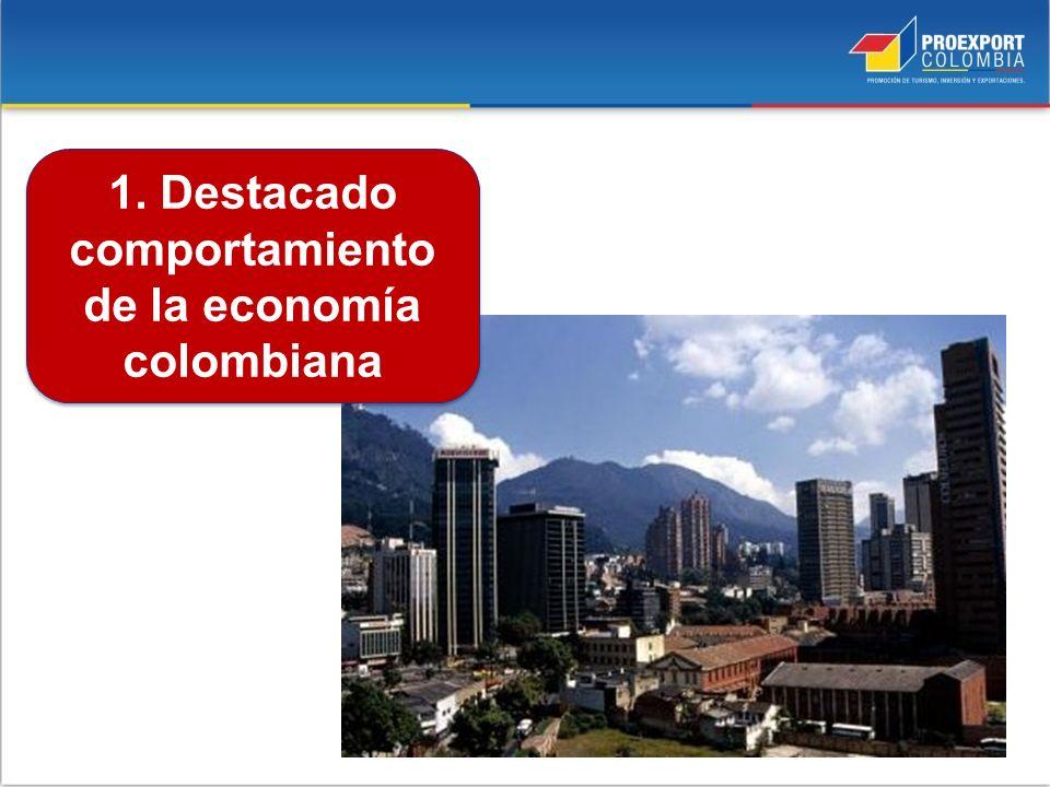 1. Destacado comportamiento de la economía colombiana