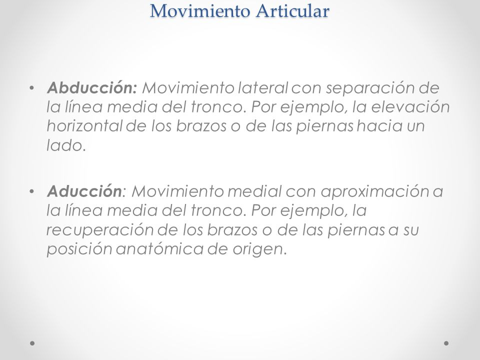 Movimiento Articular
