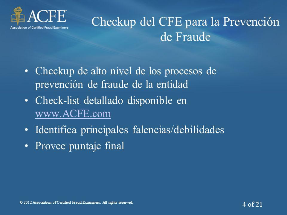 Checkup del CFE para la Prevención de Fraude