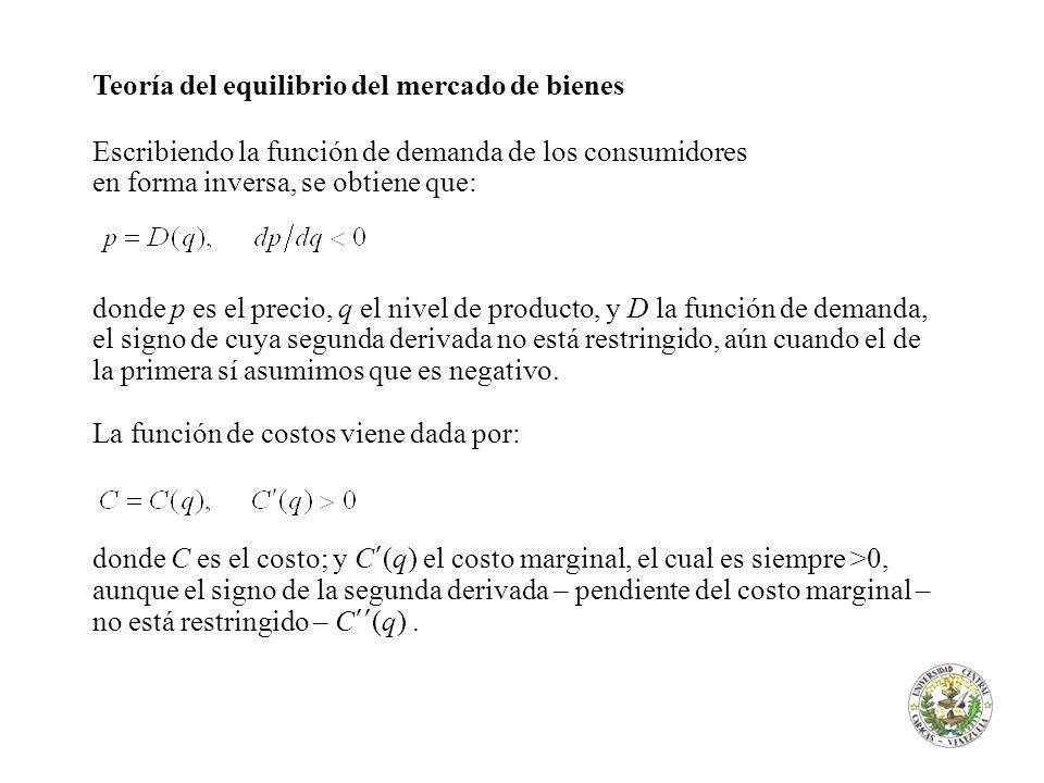 Teoría del equilibrio del mercado de bienes