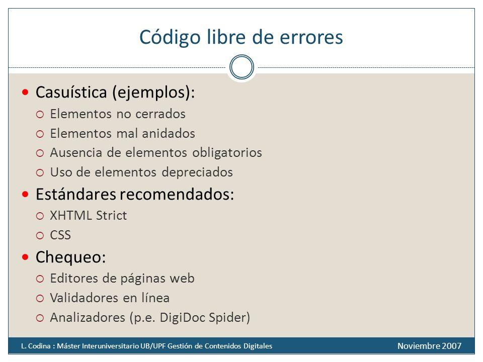 Código libre de errores