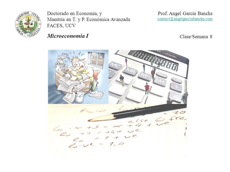 Microeconomía I Doctorado en Economía, y