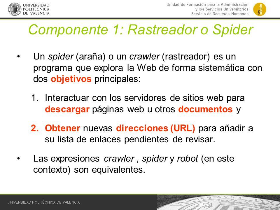 Componente 1: Rastreador o Spider