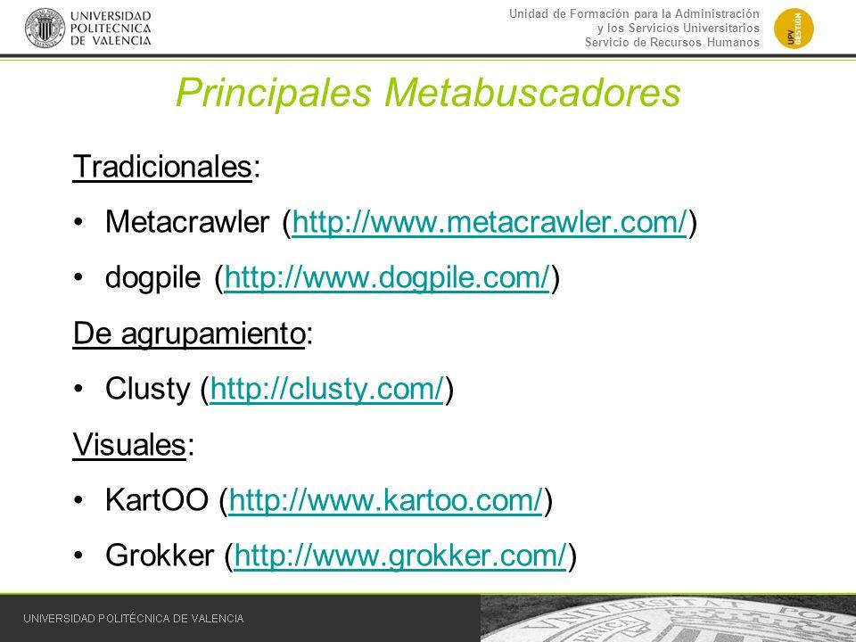 Principales Metabuscadores
