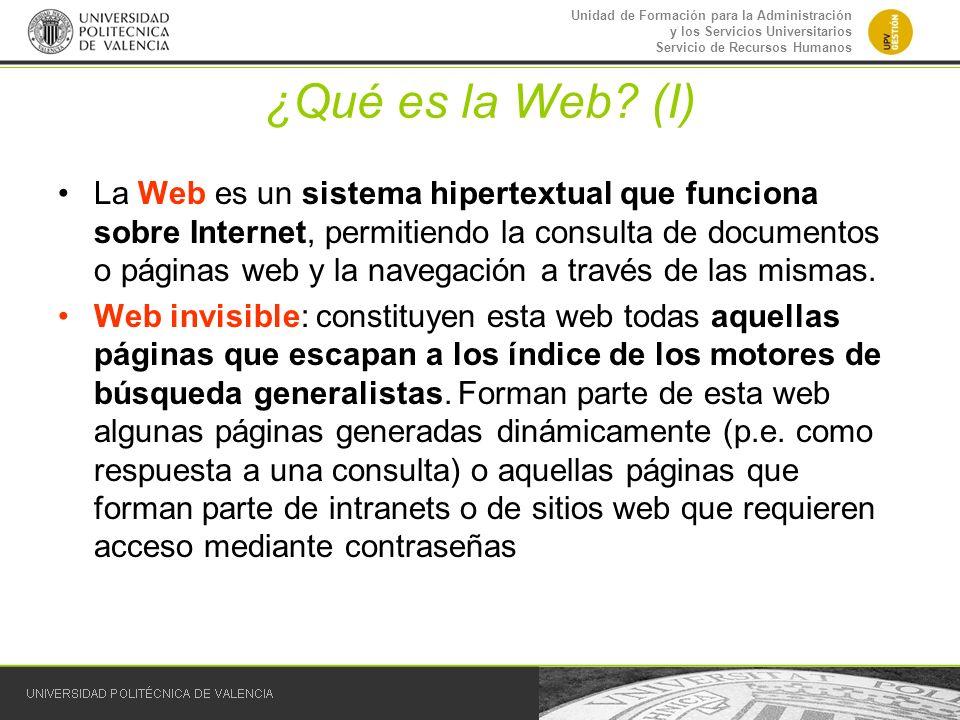 ¿Qué es la Web (I)