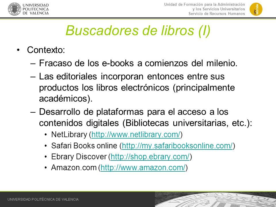 Buscadores de libros (I)