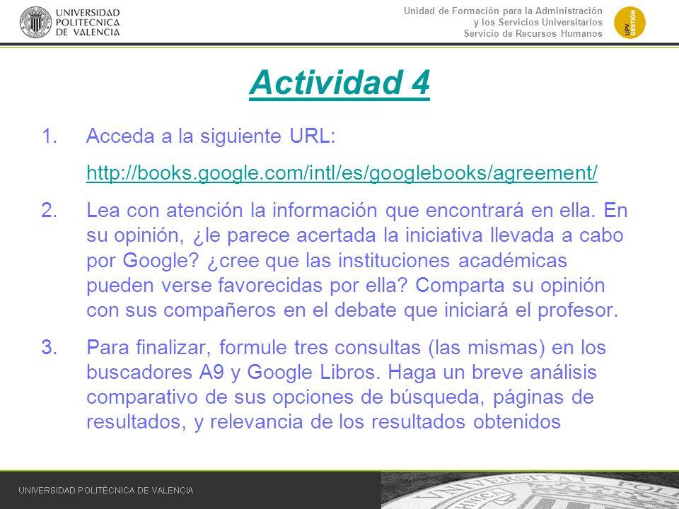 Actividad 4 Acceda a la siguiente URL: