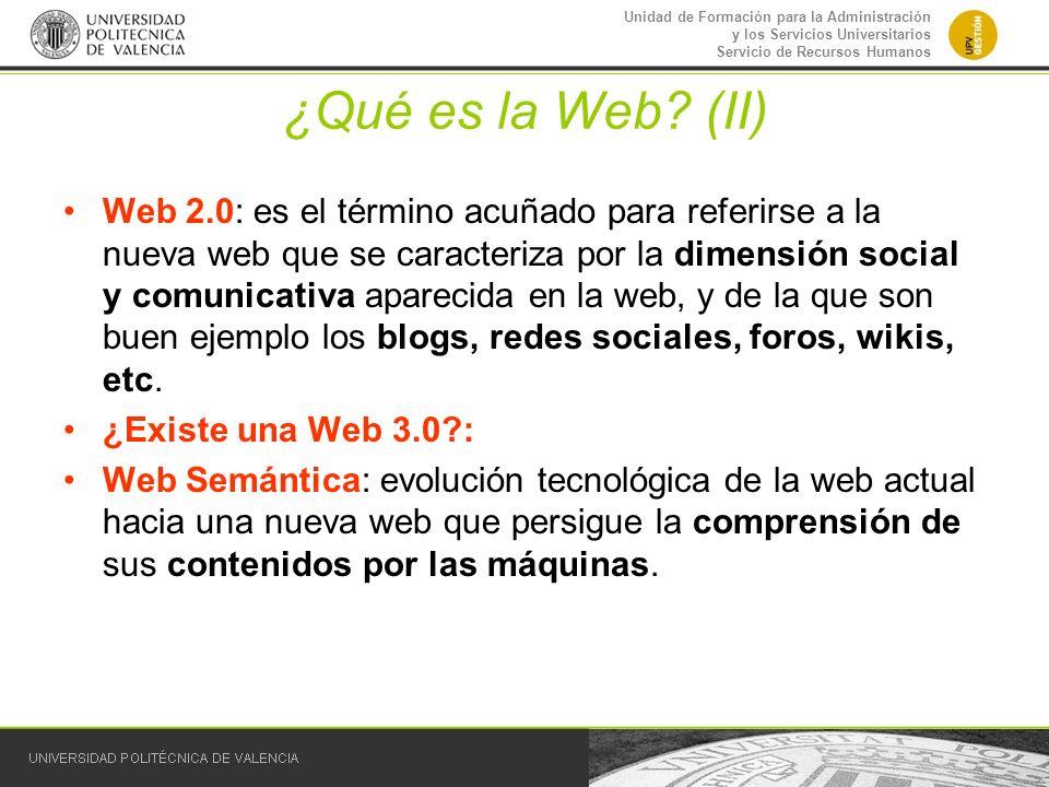 ¿Qué es la Web (II)