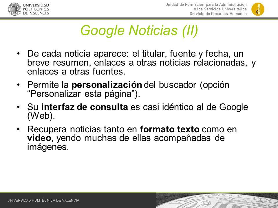 Google Noticias (II)