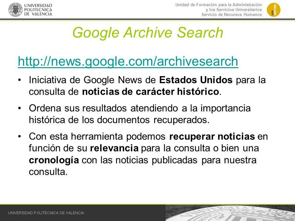 Google Archive Search