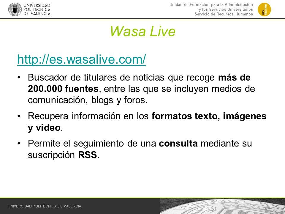 Wasa Live http://es.wasalive.com/
