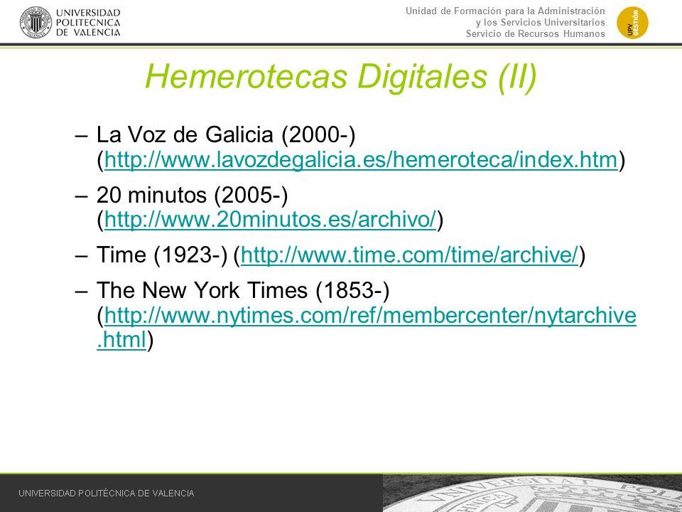 Hemerotecas Digitales (II)