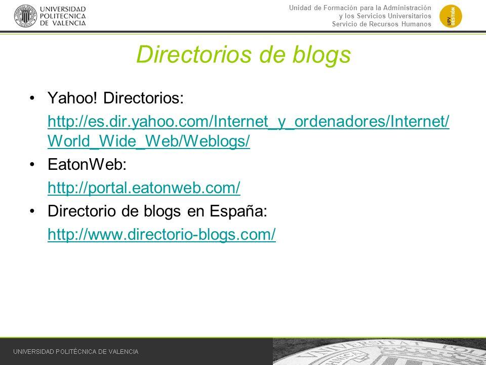 Directorios de blogs Yahoo! Directorios: