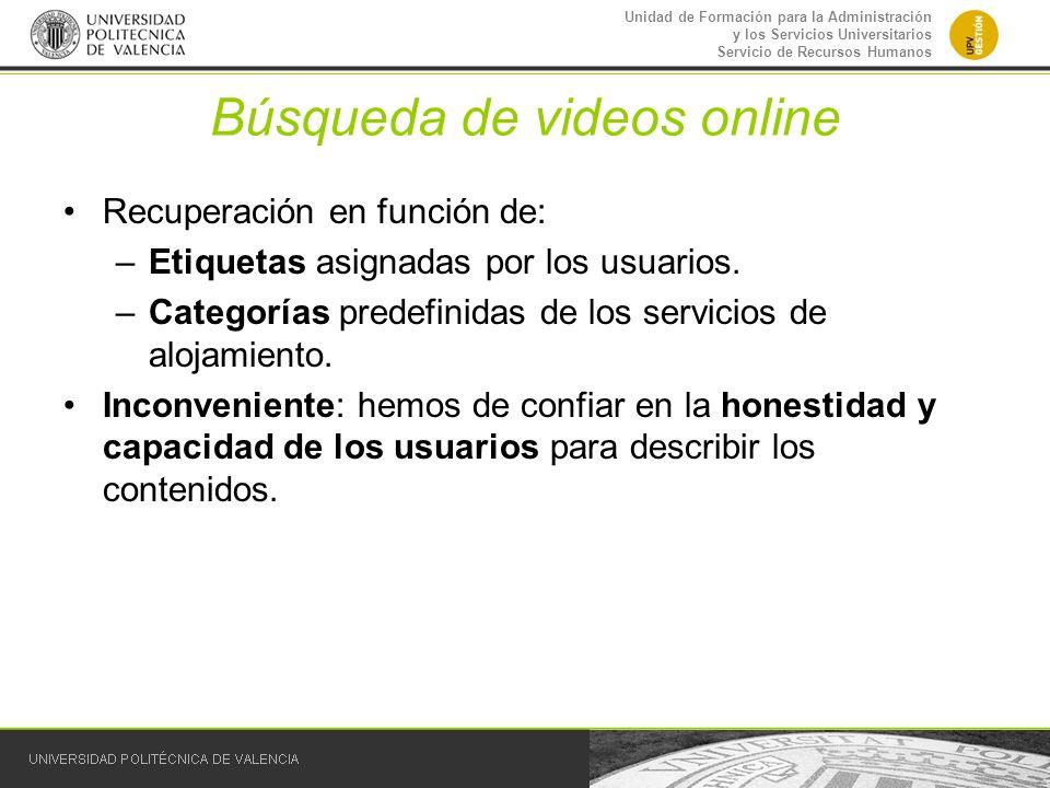 Búsqueda de videos online