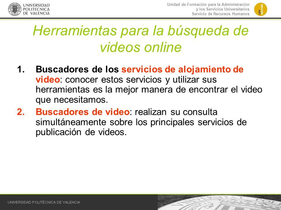 Herramientas para la búsqueda de videos online
