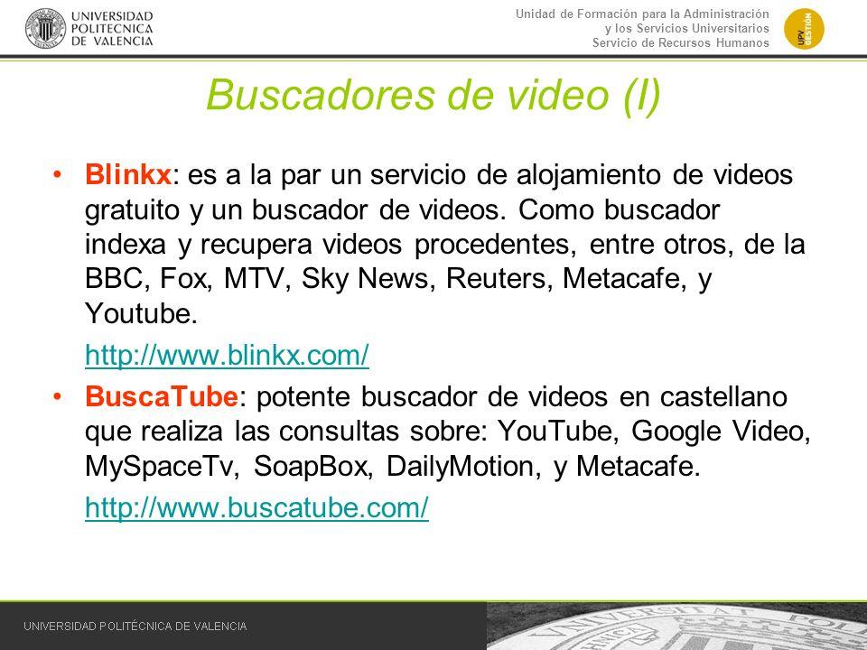 Buscadores de video (I)