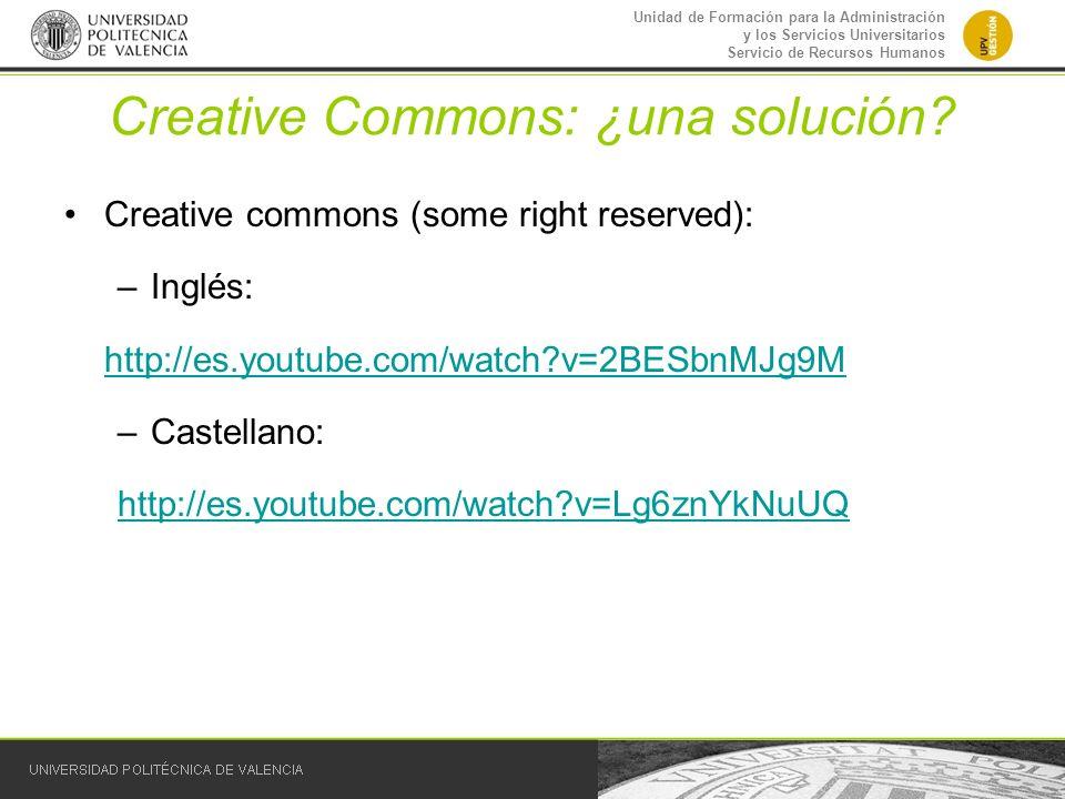 Creative Commons: ¿una solución