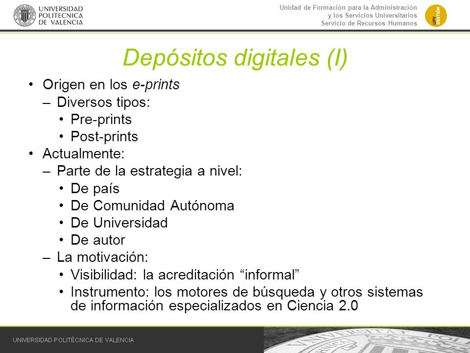 Depósitos digitales (I)