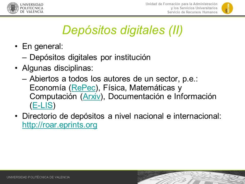 Depósitos digitales (II)
